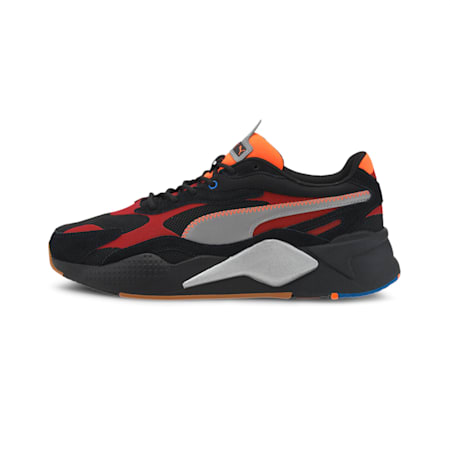RS-X³ Retro Fusion Men's Sneakers, Puma Black-Red Dahlia, small