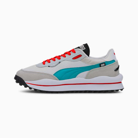 Style Rider Neo Archive Trainers, Puma White-Gray Violet, small