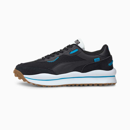 Style Rider Warm Texture Trainers, Black-Black-Atomic Blue, small