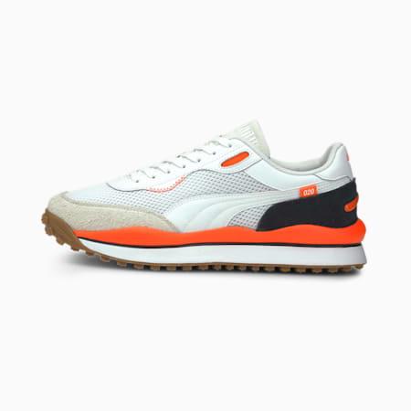 Style Rider Warm Texture Sneaker, White-Lava Blast-Puma Black, small