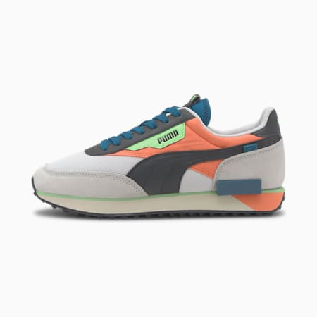 Future Rider Neon Play Men's Sneakers, Puma White-Fusion Coral, small