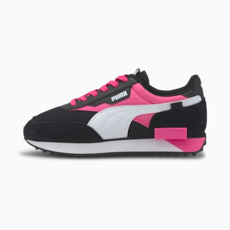 Future Rider Neon Play Sneaker, Puma Black-Luminous Pink, small
