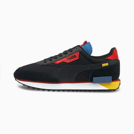 Future Rider Neon Play Sneaker, Puma Black-Star Sapphire, small