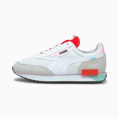 Future Rider Neon Play sneakers, Puma White-Poppy Red, small