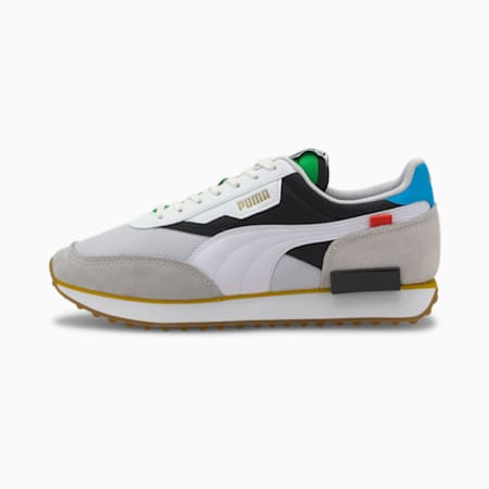 Future Rider The Unity Collection Trainers, Puma White-Puma Black, small