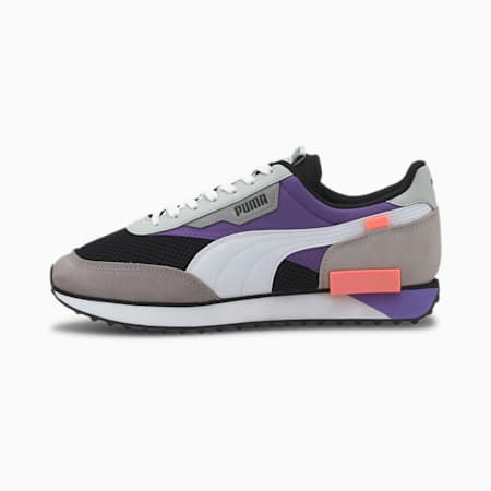 Future Rider Galaxy Trainers, Puma Black-Ultra Violet, small