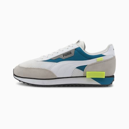 Future Rider Galaxy Trainers, Puma White-Digi-blue, small