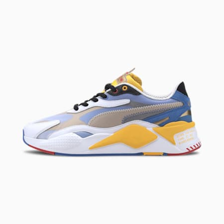 PUMA x SONIC RS-X³ Color Men's Sneakers, Puma White-Golden Rod, small