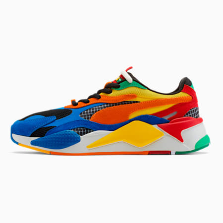 PUMA x RUBIK'S RS-X³ Shoes, Palace Blue-High Risk Red, small-IND
