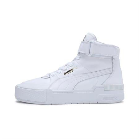 Cali Sport Top Warm Up Women's Sneakers, Puma White-Puma White, small-IND