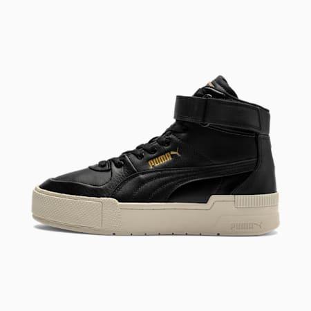Cali Sport Top Warm Up Damen Sneaker, PBlack-Marshmallow-P Gold, small