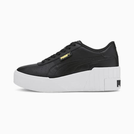 Cali Wedge Women's Trainers, Puma Black-Puma White, small-SEA