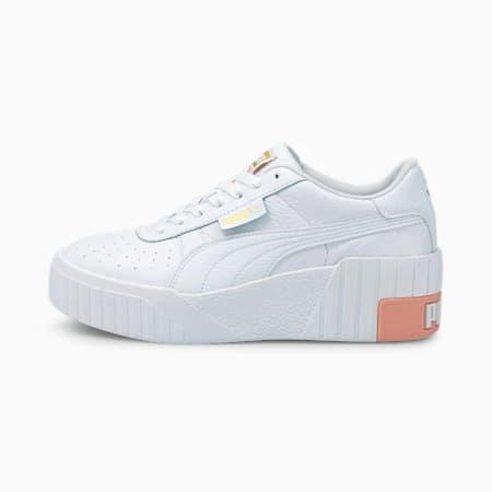Scarpe da ginnastica Cali Wedge da donna, Puma White-Apricot Blush, small
