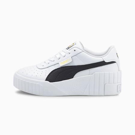 Scarpe da ginnastica Cali Wedge da donna, Puma White-Puma Black, small
