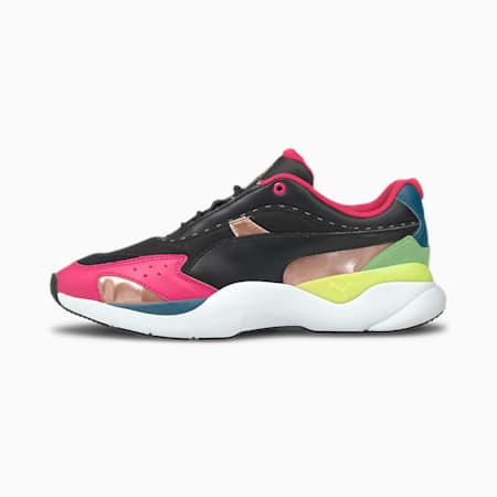 Lia FS Women's CMEVA Shoes, Puma Black-Glowing Pink, small-IND