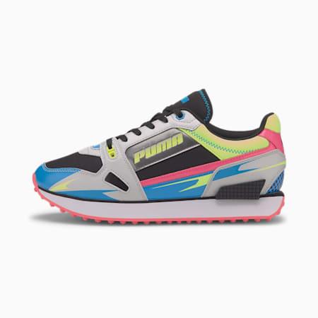 Zapatos deportivos Mile Rider Sunny Getaway para mujer, Fizzy Yellow-Glacier Gray, pequeño