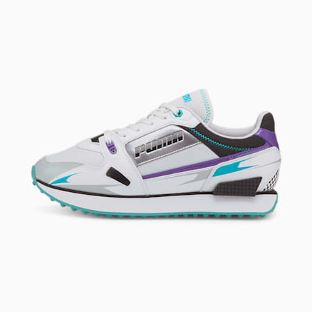 Basket Mile Rider Sunny Getaway pour femme, Puma White-Gray Violet, small