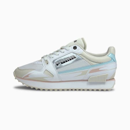 Basket Mile Rider Sunny Getaway pour femme, White-Puma Black-Omphalodes, small
