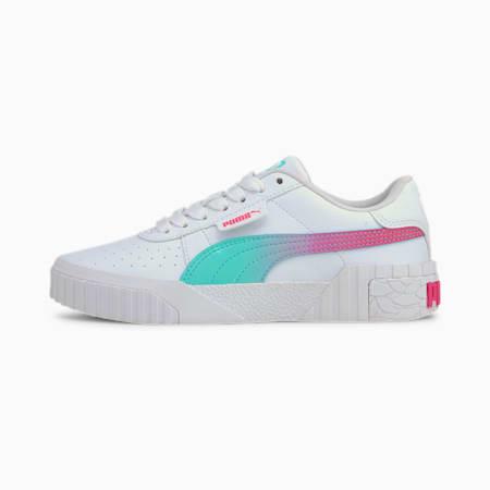Cali Space Girls' Sneakers JR, Puma White-ARUBA BLUE, small