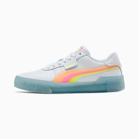Cali Neon Iced Women's Sneakers, P.White-Fluo Pink-Y. Alert, small