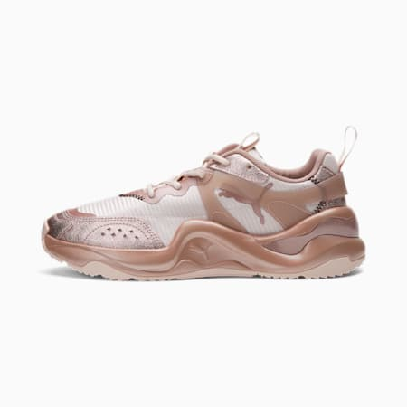 Rise Silver Metal Women's Sneakers, R.Gold-Rosewater-Rosewater, small