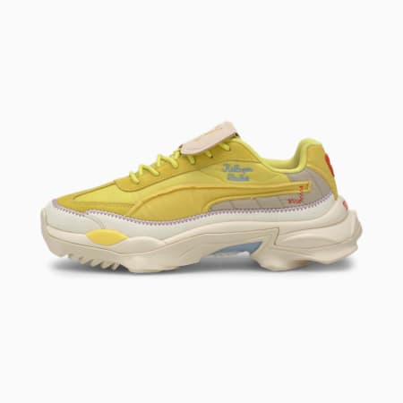 PUMA x KIDSUPER Nitefox Trainers, Limelight-Yellow Cream, small