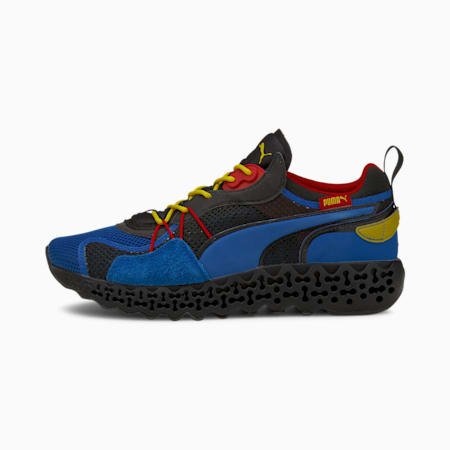 Calibrate Restored Trainers, Lapis Blue-Fizzy Yellow, small