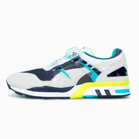 RDN XS 7000 Vintage Trainers, Puma White-Scuba Blue, small-GBR