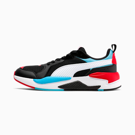 X-RAY Colorblock Men's Sneakers, Black-White-Blue-Red, small