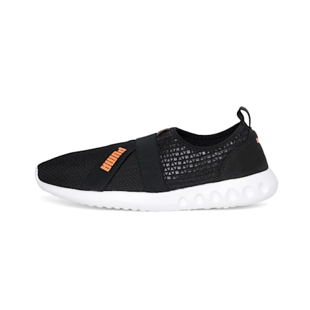 Dwane Slip-on MU IDP Walking Shoes, Puma Black-Jaffa Orange, small-IND