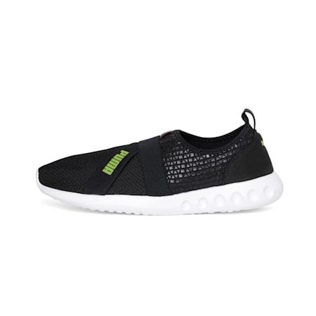 Dwane Slip-on MU IDP Walking Shoes, Asphalt-Limepunch, small-IND