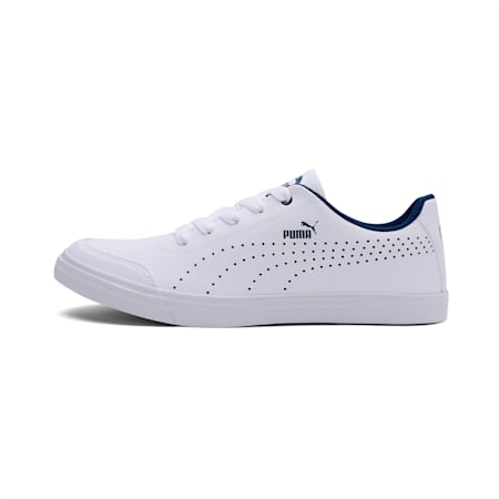 Court Maze Vulc SL V4 IDP Sneakers, Puma White-Gibraltar Sea, small-IND