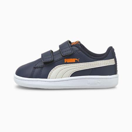 Zapatos PUMA UP V para bebé, Peacoat-Nimbus Cloud-Vibrant Orange-Puma White, pequeño