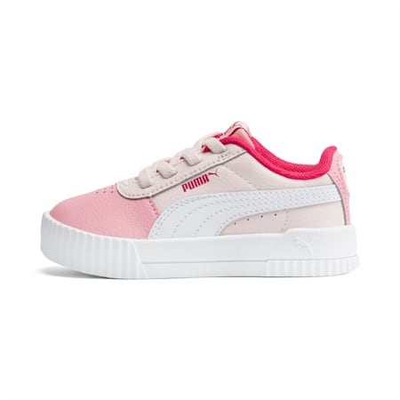 Carina Leather Toddler Shoes, Rosewater-Peony-Puma White, small