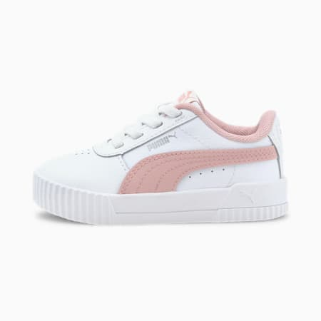 Carina Leather Toddler Shoes, Puma White-Peachskin, small
