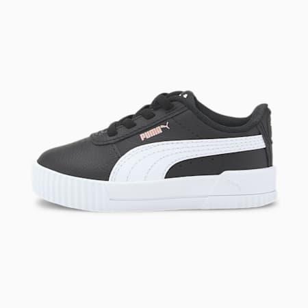 Carina Leather Toddler Shoes, Puma Black-Puma White, small