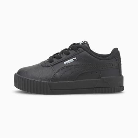 Carina Leather Toddler Shoes, Puma Black-Puma Black, small