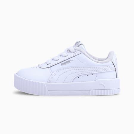 Zapatos Carina de cuero para bebé, Puma White-Puma White-Gray Violet, pequeño