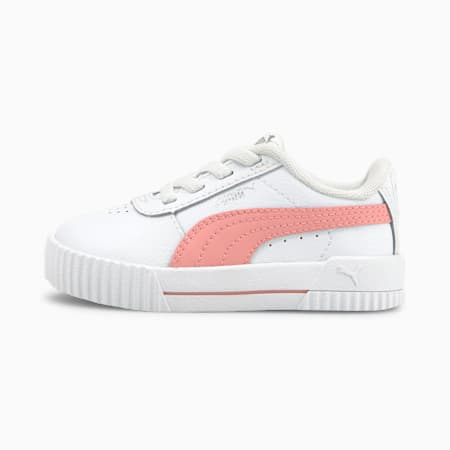 Zapatos Carina de cuero para bebé, Puma White-Peony, pequeño