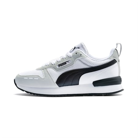 R78 Youth Trainers, White-Gray Violet-Black, small