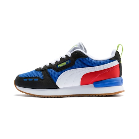 R78 Youth Trainers, Palace Blue-Black-White, small