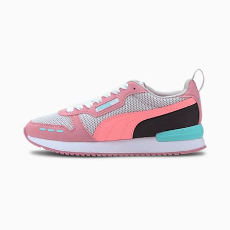 R78 Youth Trainers, Gray -Salmon Rose-Foxglove, small