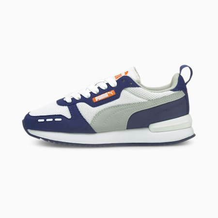 R78 Youth Trainers, White-Gray-Elektro Blue, small