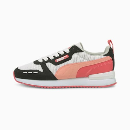 R78 Youth Trainers, White-Apricot Blush-Black, small