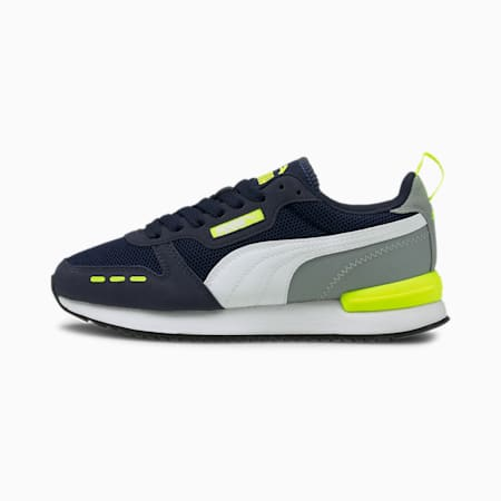 R78 Youth Trainers, Peacoat-Yellow Alert, small