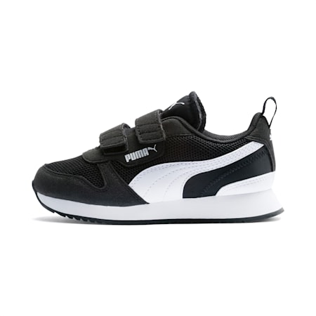 キッズ プーマ R78 V PS スニーカー 17-21cm, Puma Black-Puma White, small-JPN