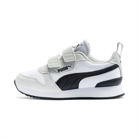 R78 Kids' Trainers, White-Gray Violet-Black, small