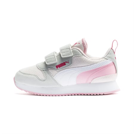 R78 Kids' Trainers, Rosewater-Gray -White, small