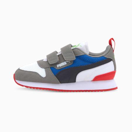 R78 Kids' Trainers, Puma White-Puma Black-Ultra Gray, small-SEA