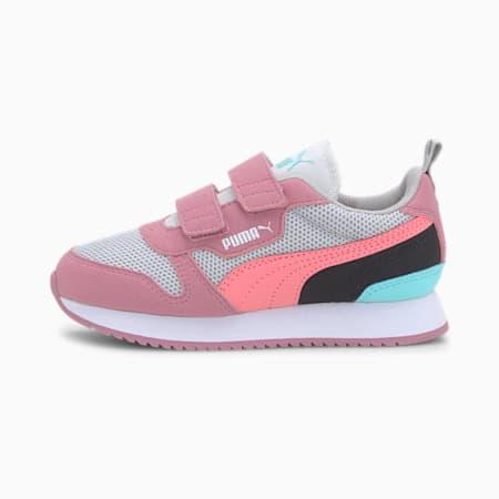 PUMA R78 Little Kids' Shoes, Gray -Salmon Rose-Foxglove, small